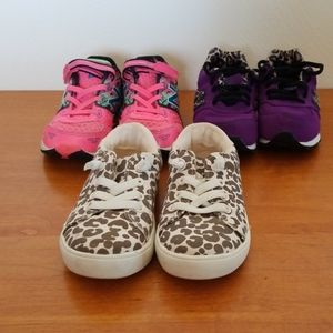 Lot of 3 toddler size 10 shoes